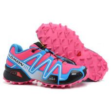 Salomon Speedcross 3 розовый с голубым